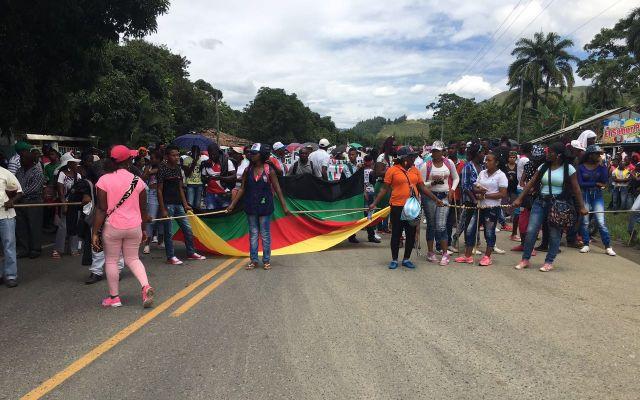 Afrobevegelsen demonstrerer i Colombia