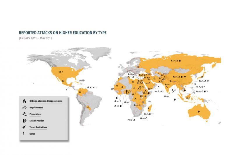 Alvorlige angrep mot studenter og forskere i 65 land
