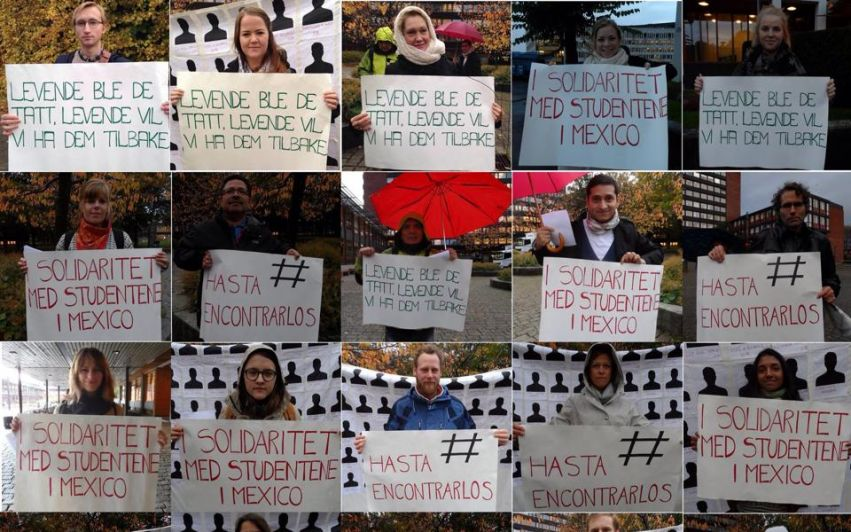Opprop: Solidaritet med studentene i Mexico