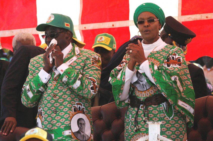 Grace Mugabe With Robert Mugabe 2013 08 04 11 53