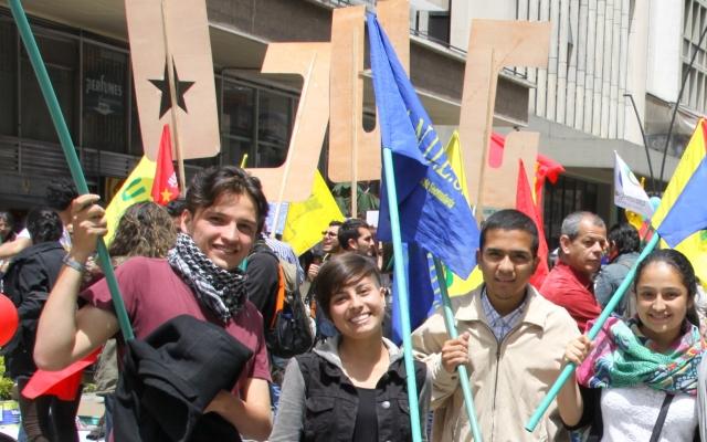 Fredsavtalen i havn i Colombia