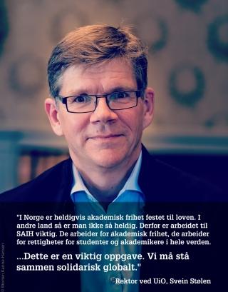 Bilde Og Sitat Svein Stølen Rektor Ved Ui O