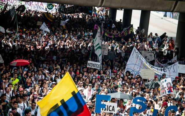 Studentstreikene i Colombia fortsetter