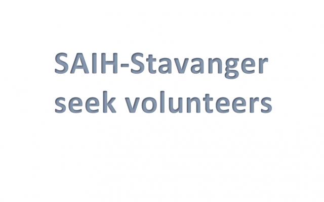 Vi søker frivillige!
