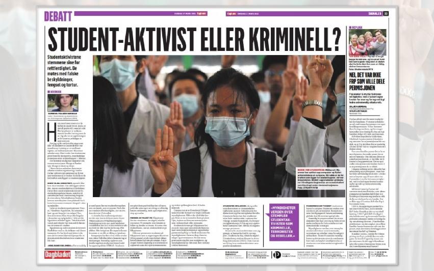 Studentaktivist eller kriminell?